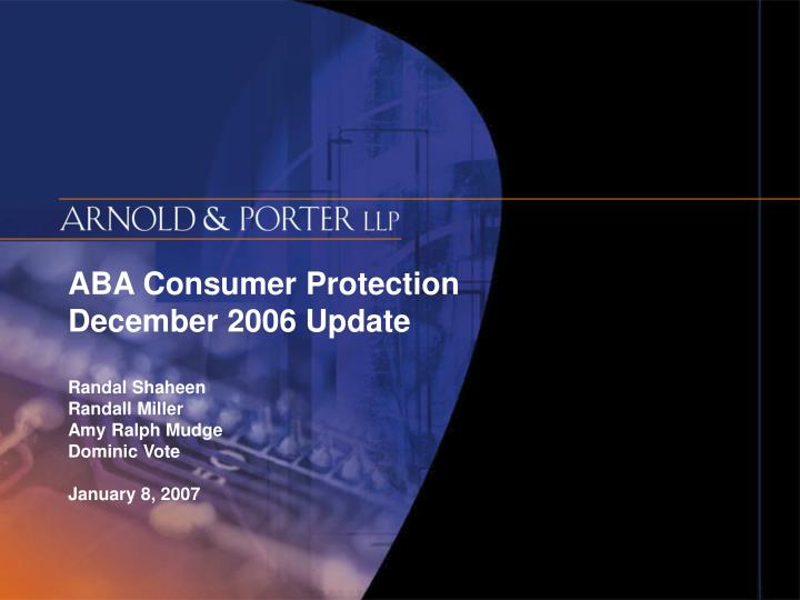 ABA Consumer Protection