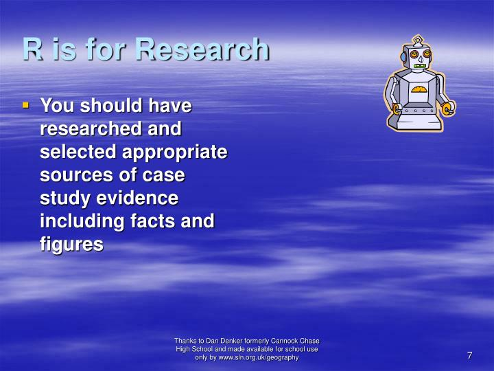 R is for Research