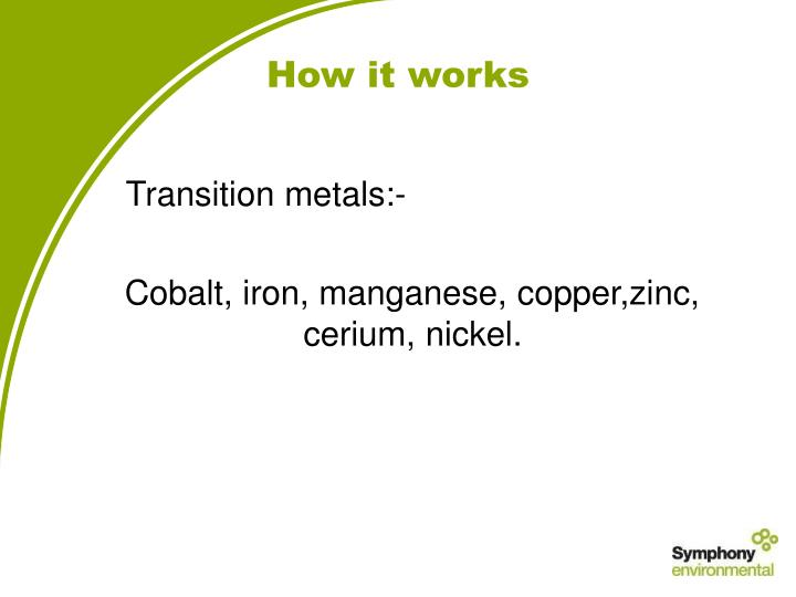 Transition metals:-