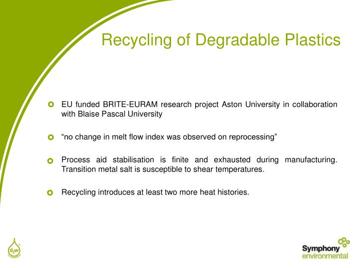 EU funded BRITE-EURAM research project Aston University in collaboration with Blaise Pascal University