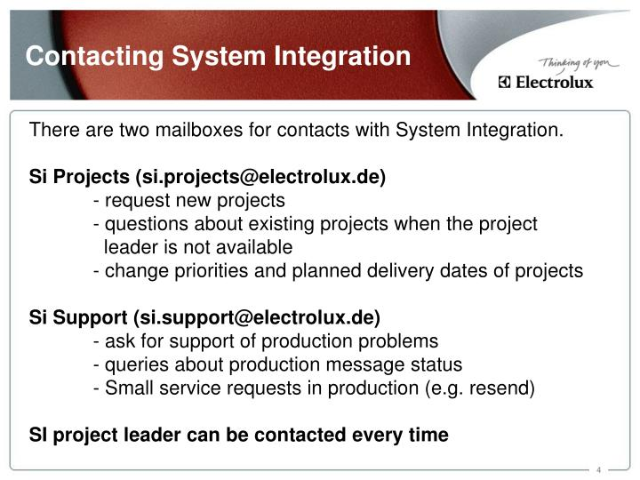 Contacting System Integration
