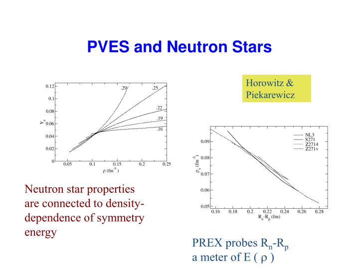 PVES and Neutron Stars