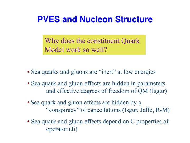 PVES and Nucleon Structure