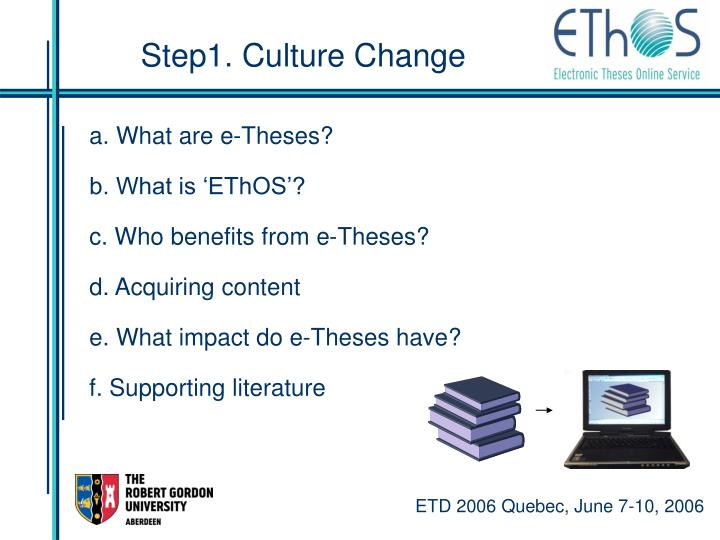 Step1. Culture Change