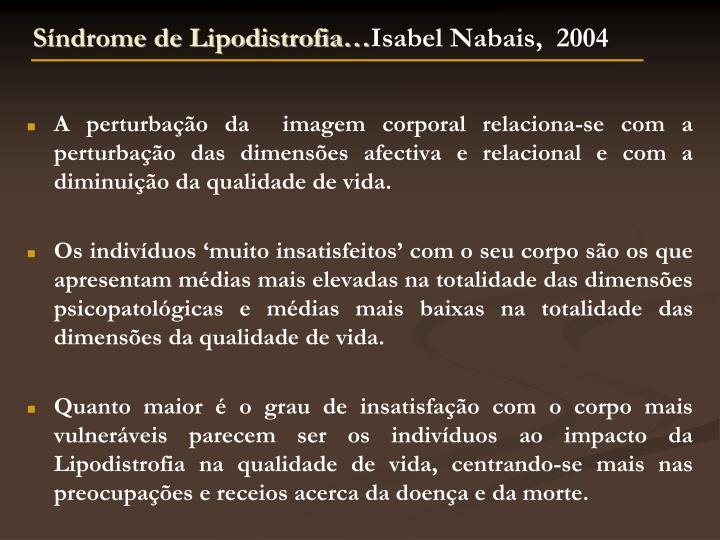 Síndrome de Lipodistrofia…