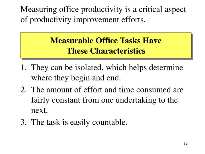 Measuring office productivity is a critical aspect