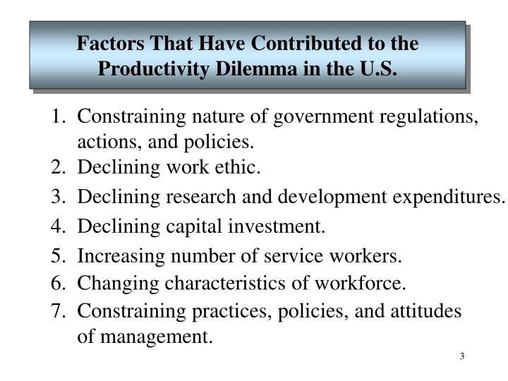 Factors That Have Contributed to the