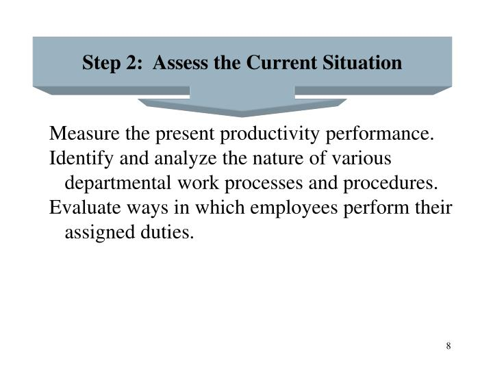 Step 2:  Assess the Current Situation