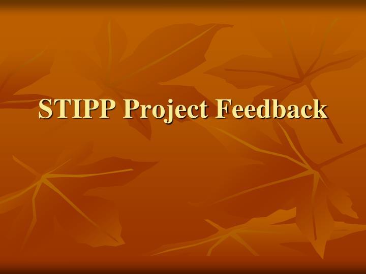 STIPP Project Feedback
