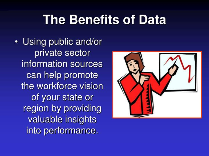 The benefits of data