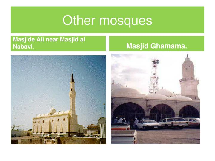 Other mosques