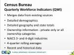 census bureau quarterly workforce indicators qwi