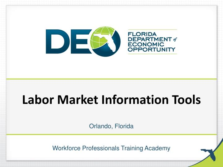 Labor market information tools