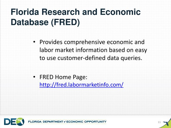 Florida Research and Economic Database (FRED)
