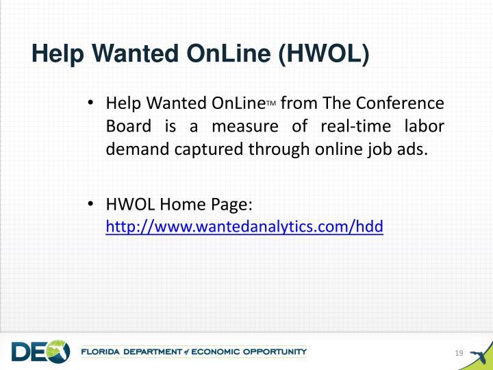 Help Wanted OnLine (HWOL)