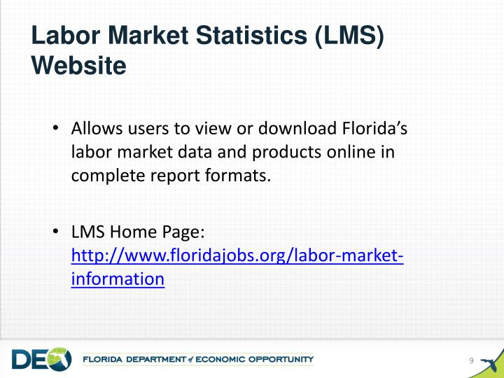 Labor Market Statistics (LMS) Website