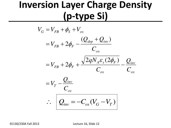 Inversion Layer Charge Density