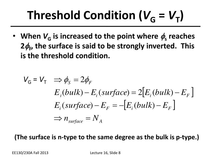 Threshold Condition (