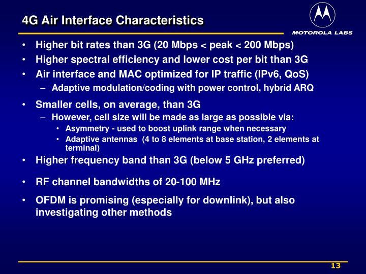 4G Air Interface Characteristics