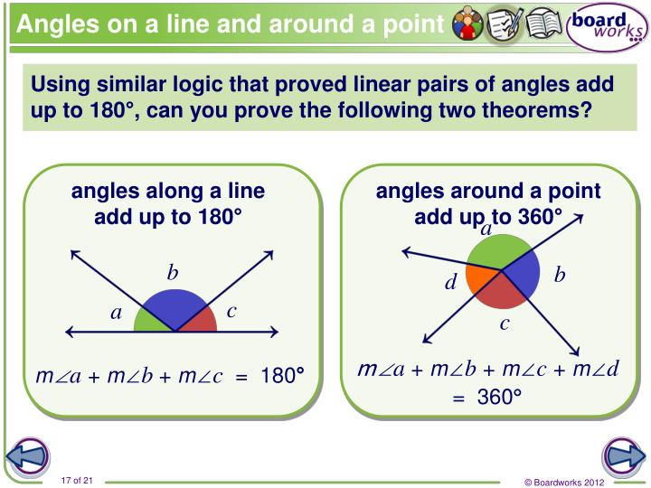 Angles on a line and around a point