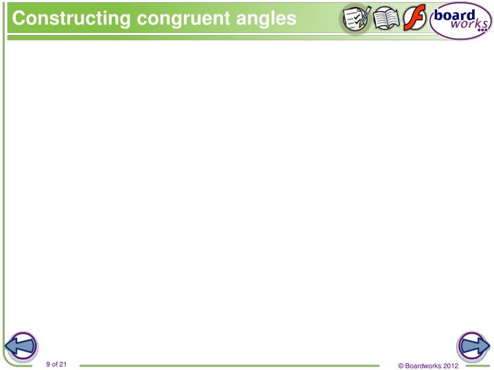 Constructing congruent angles