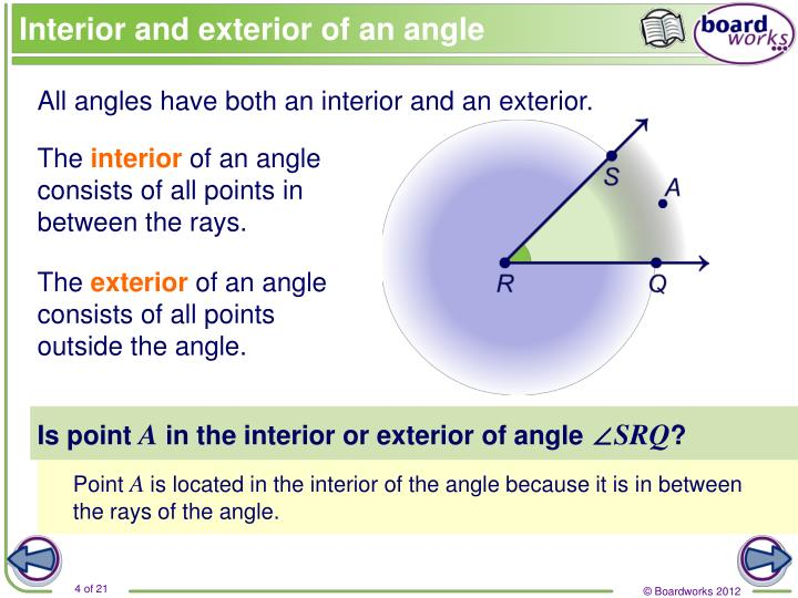 Interior and exterior of an angle