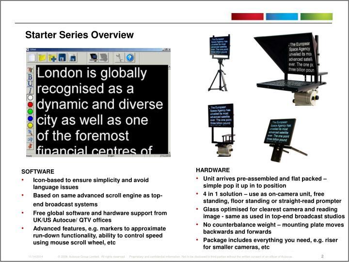 Starter Series Overview