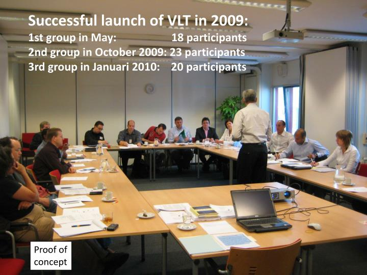 Successful launch of VLT in 2009: