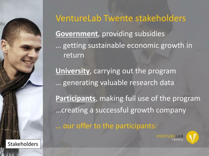VentureLab Twente stakeholders