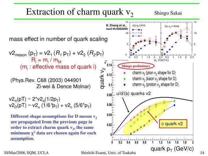 Extraction of charm quark v