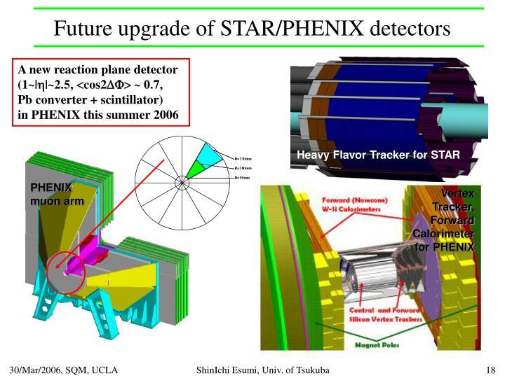 Future upgrade of STAR/PHENIX detectors