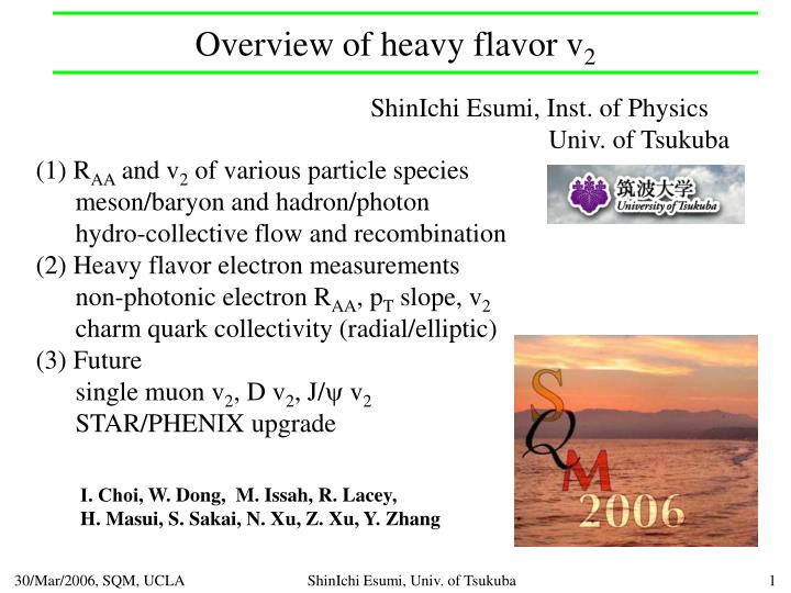 Overview of heavy flavor v