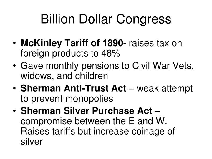Billion Dollar Congress