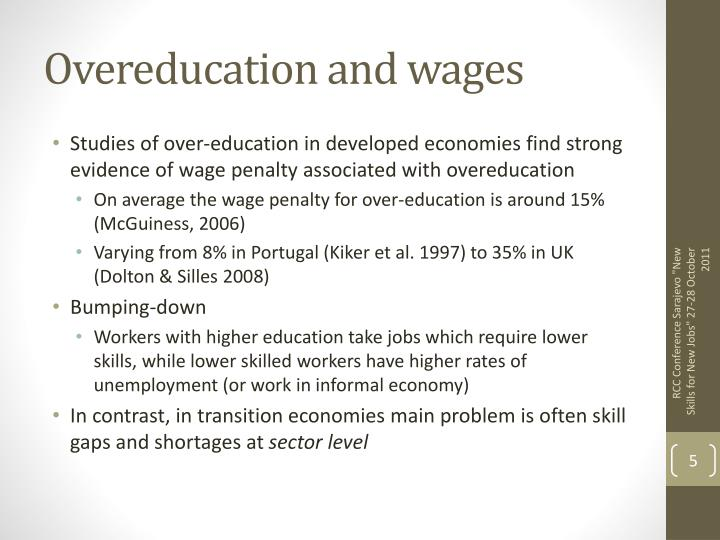Overeducation and wages