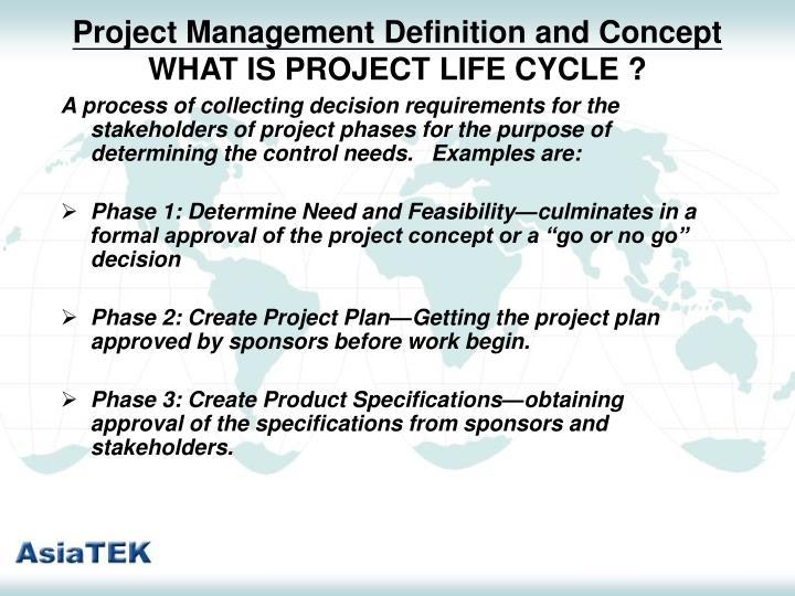 Project Management Definition and Concept