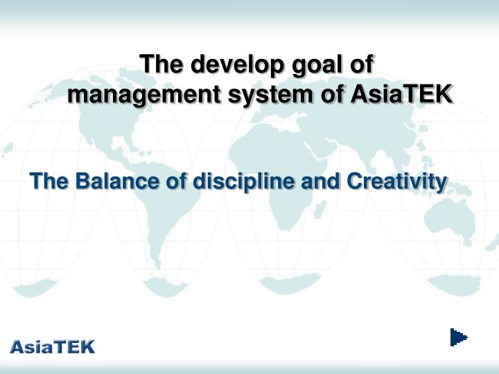 The develop goal of
