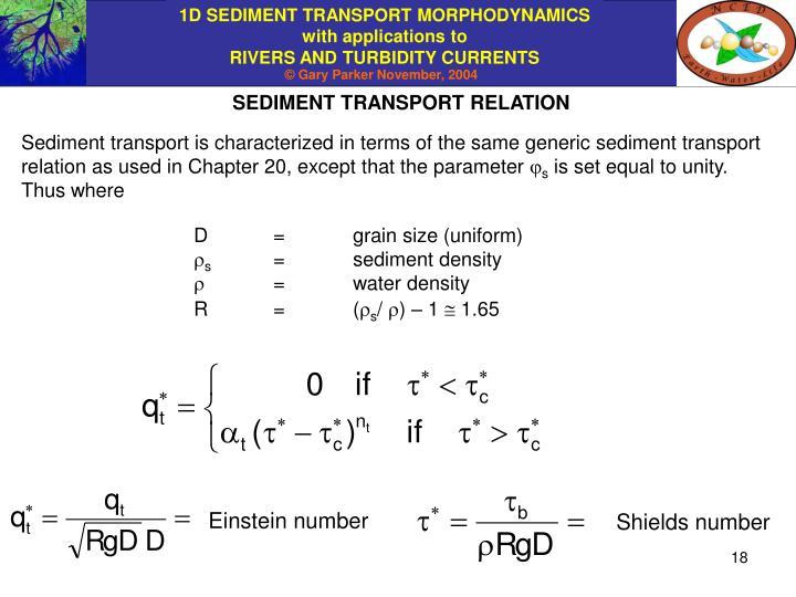 SEDIMENT TRANSPORT RELATION