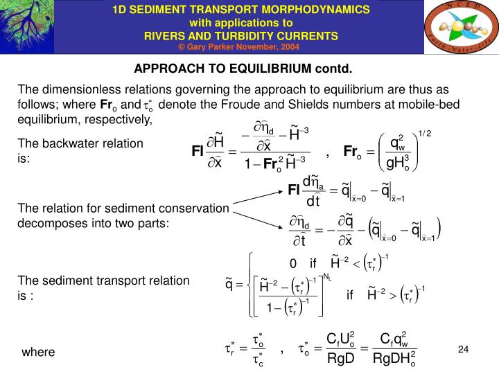 APPROACH TO EQUILIBRIUM contd.
