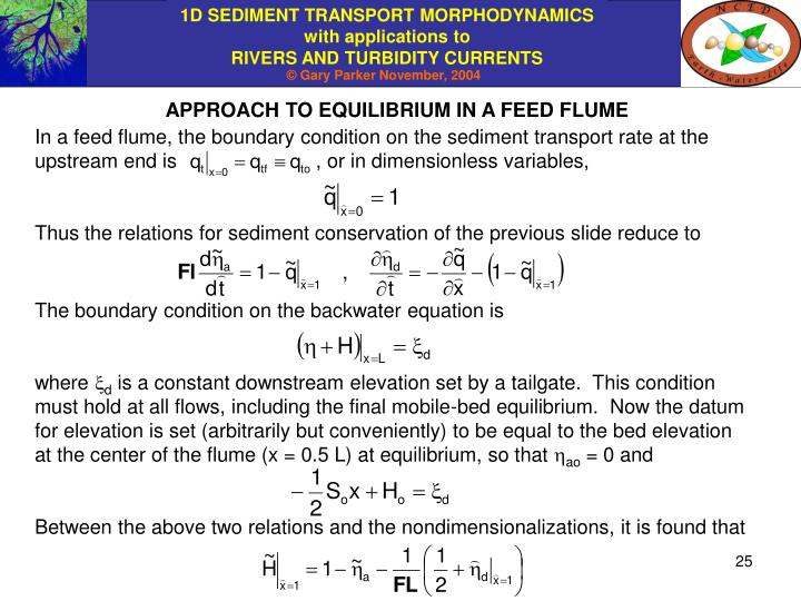APPROACH TO EQUILIBRIUM IN A FEED FLUME