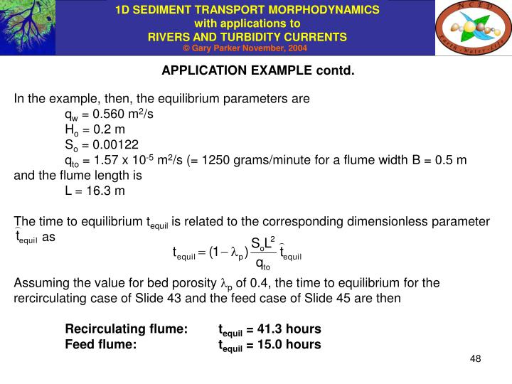 APPLICATION EXAMPLE contd.