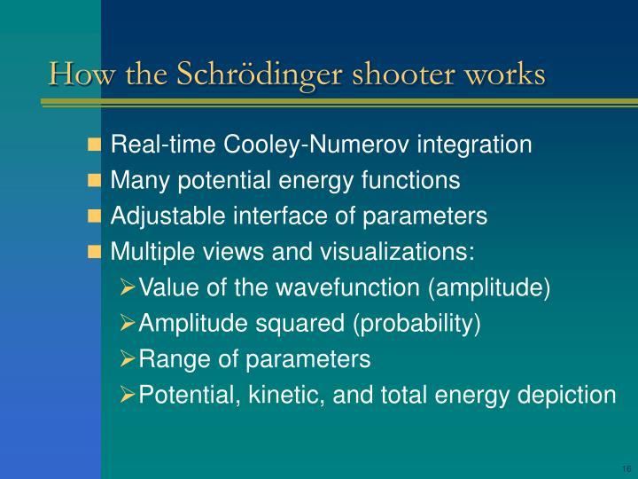 How the Schrödinger shooter works