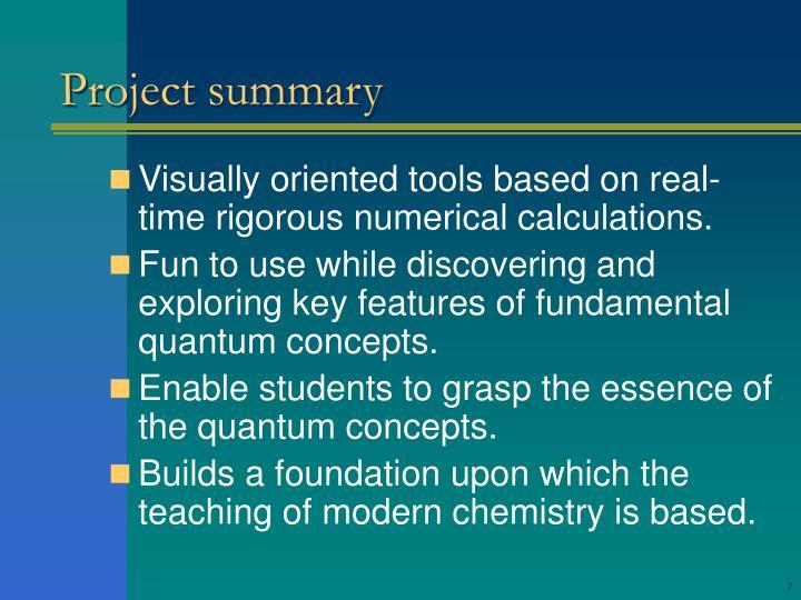 Project summary