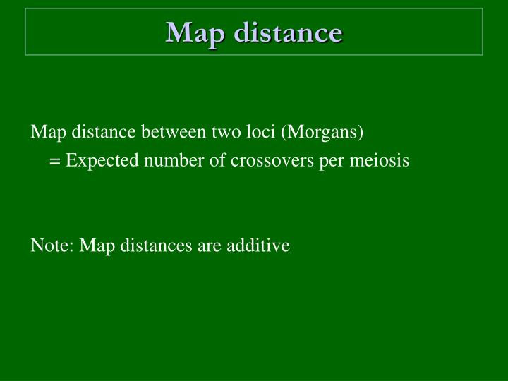 Map distance