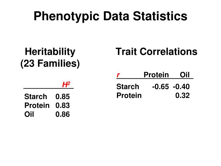 Phenotypic Data Statistics