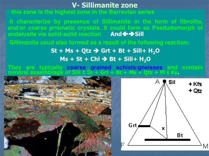 V- Sillimanite zone
