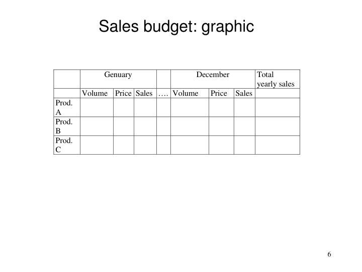 Sales budget: graphic