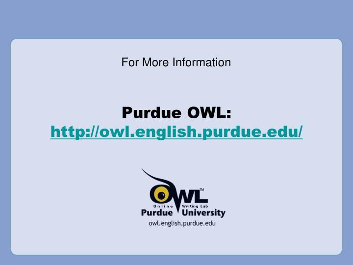 Purdue OWL: