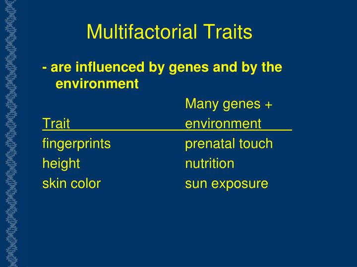 Multifactorial Traits