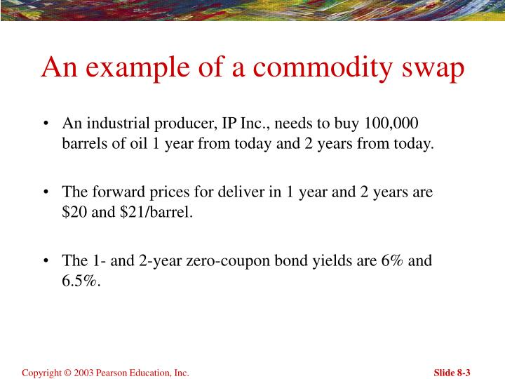 An example of a commodity swap