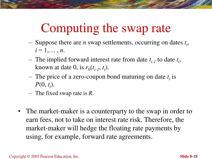 Computing the swap rate